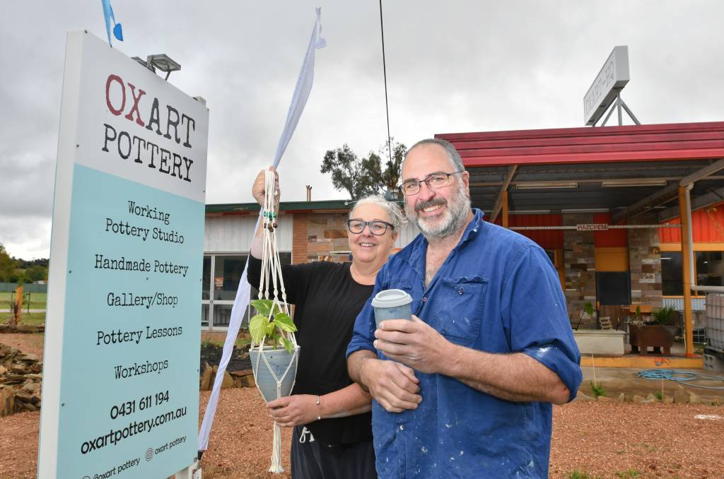 DREAM: Ian McColl and Leanne Manniche's life-long dream became a reality when the couple opened OXART Pottery in Taradale. Picture: NONI HYETT