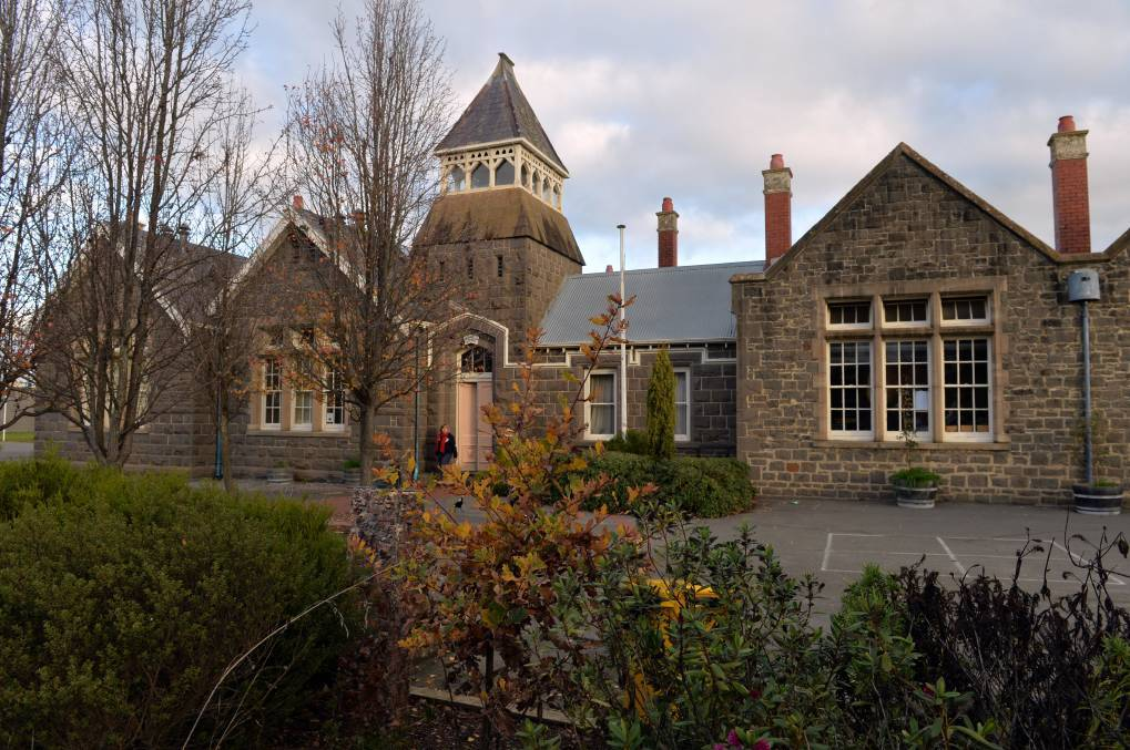 The former Kyneton Primary School site consists of heritage and non-heritage buildings. Picture: BRENDAN McCARTHY