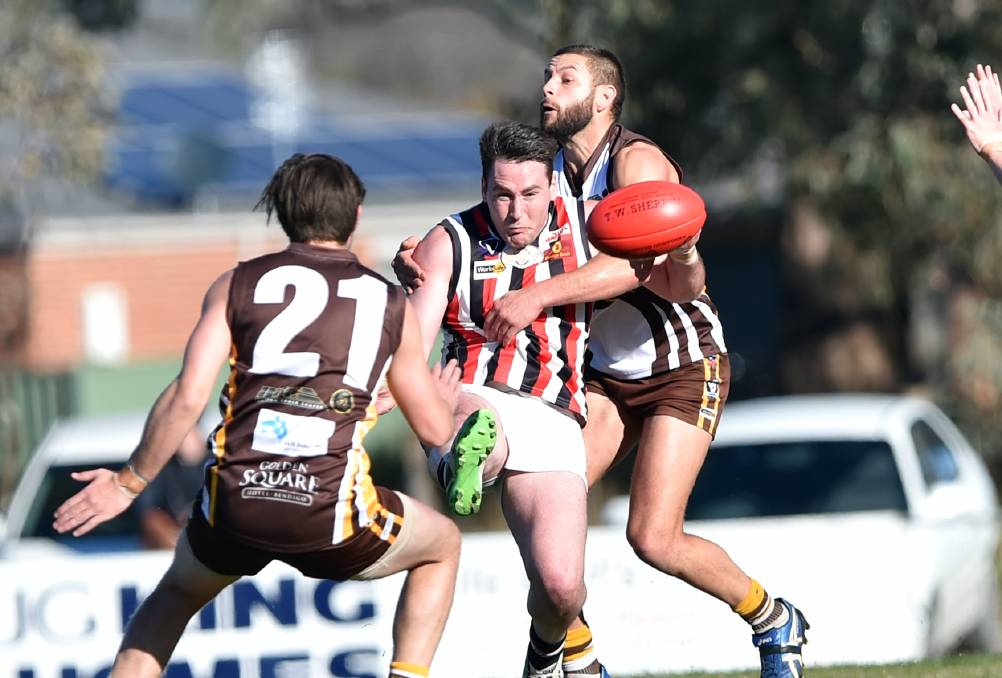 BACK AT BARRACK RESERVE: Midfielder Jake Condon has returned to Heathcote after a season at Sandhurst. Picture: GLENN DANIELS