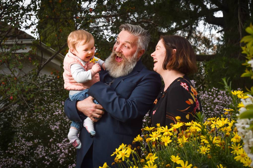 BABY JOY: Lisa Chesters and Matt Emond are expecting their second child in April 2021. Matt Emond has chosen not to recontest his seat on council to take a