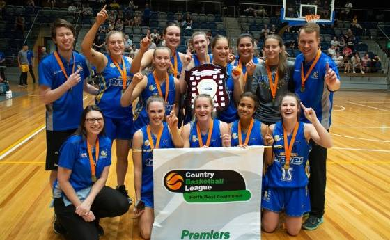 CHAMPIONS: Braves women triumphed over the Maryborough Blazers to win the 2019-20 CBL North West conference final. Picture: BASKETBALL VICTORIA