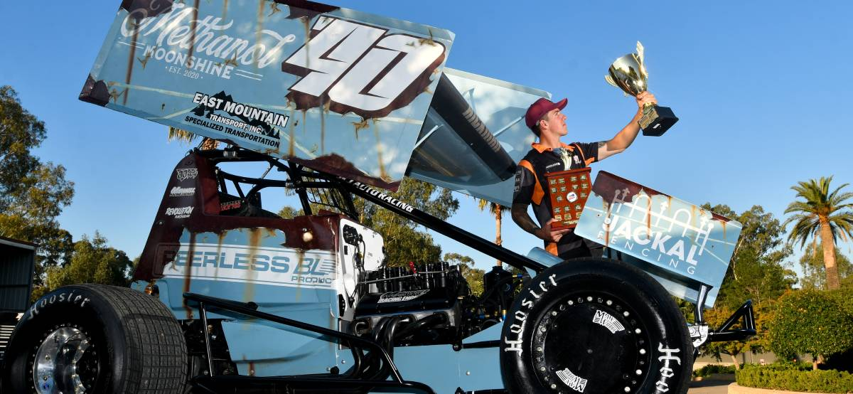 ALL STAR: Bendigo sprintcar racer Rusty Hickman has secured the 2021 Mainline Dynolog Dynamometers All Stars Series title. Picture: NONI HYETT