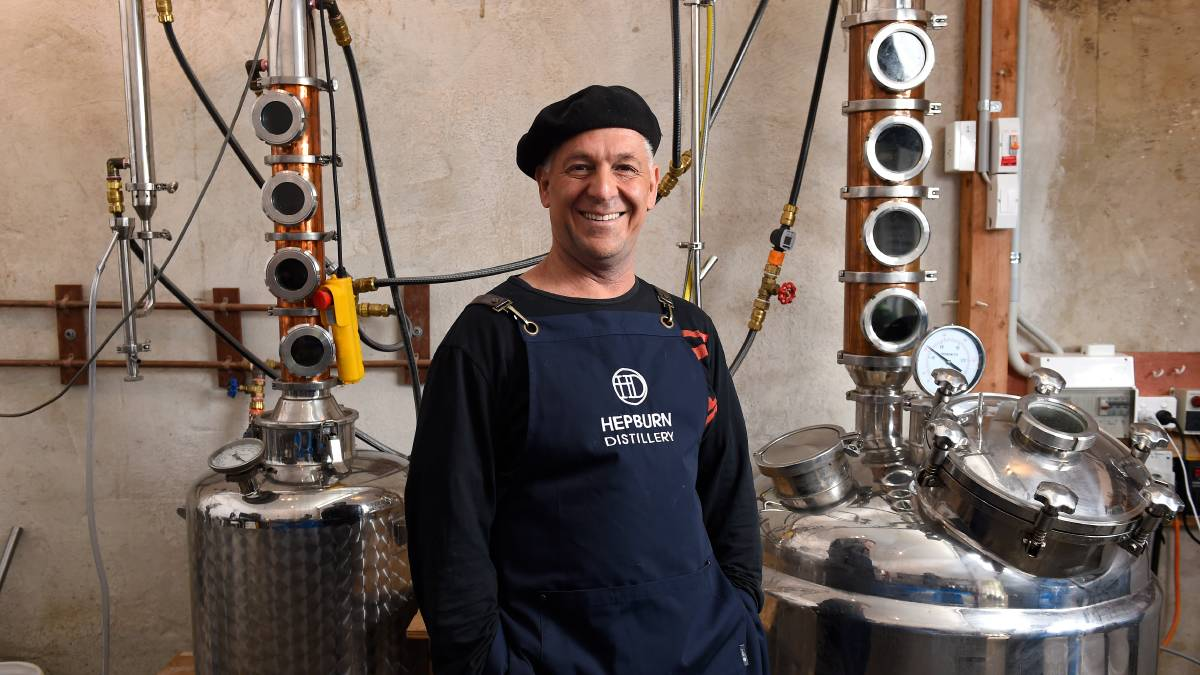 ALL SMILES: Basil Eliades' Hepburn Distillery won a gold medal for its vodka at the World Spirit Awards. Picture: Adam Trafford