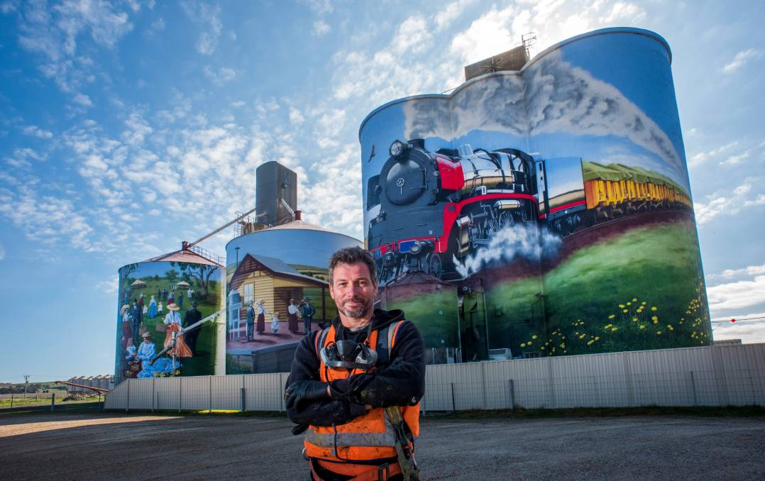 PROJECT: Artist Tim Bowtell has almost completed the Colbinabbin Silo Art project.