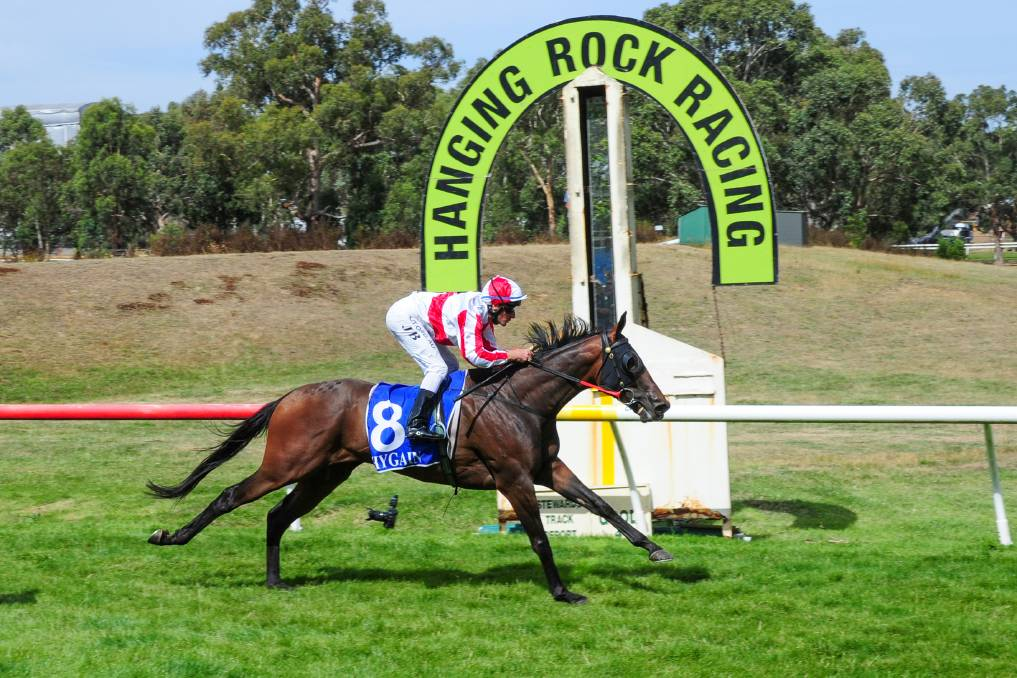Extreme Torque, ridden by Jason Baldock, wins the bet365 Hanging Rock Cup in January last year. This year's Hanging Rock Cup meeting will be run at Kyneton on January 26. Picture: BRENDAN McCARTHY/RACING PHOTOS
