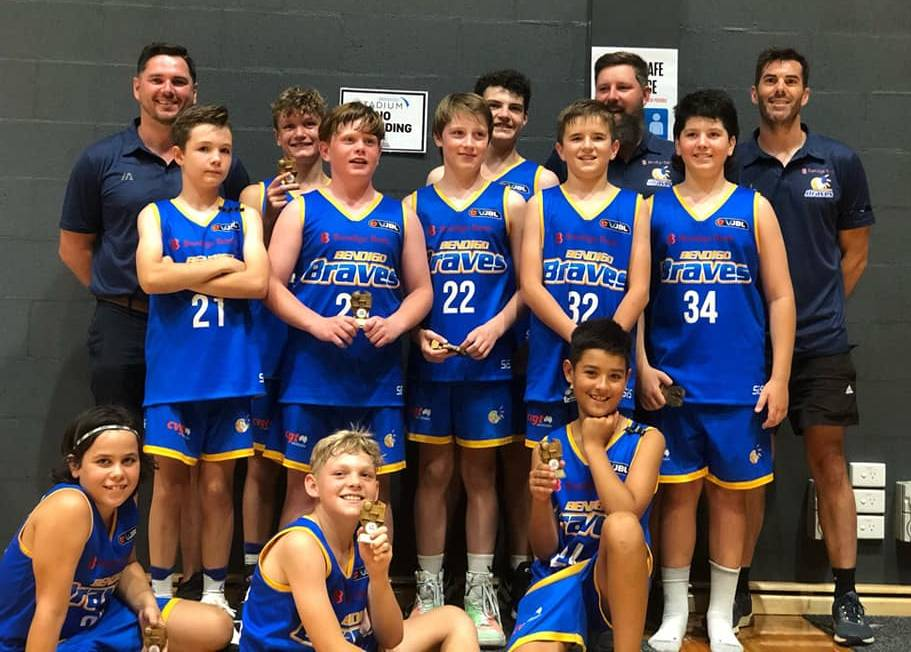 CHAMPIONS:: The Braves under-14 division two team beat all comers at the Bendigo Junior Classic on the weekend. PICTURE SUPPLIED