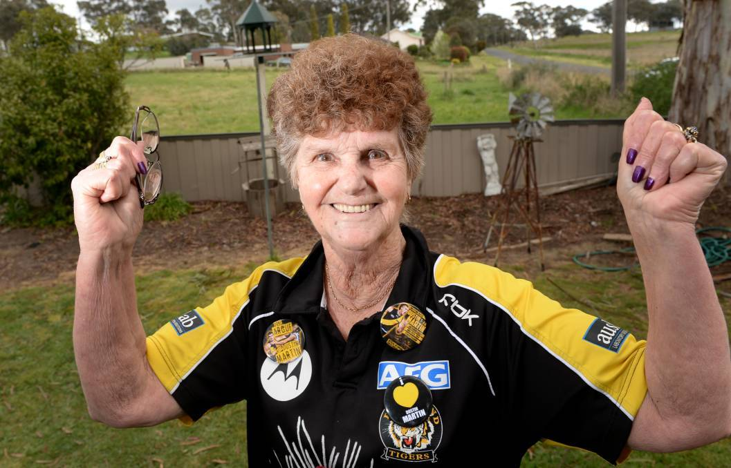 Lois Knight is as proud as punch of her grandson, champion Richmond midfielder Dustin Martin. File picture: DARREN HOWE
