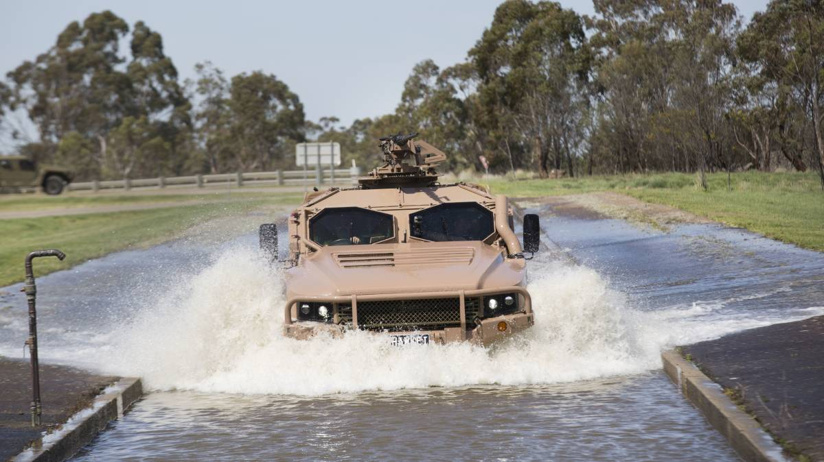 RUGGED: The Hawkei military vehicles were deployed to Iraq this month to be assessed in an operational environment.