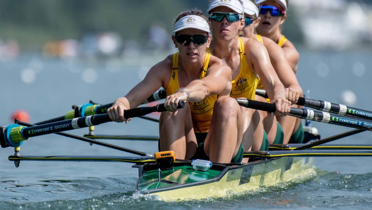 GOING FOR GOLD: Nhill rower Lucy Stephan has been named in Australia's national squad. Picture: ROWING AUSTRALIA