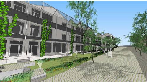 VISION: Nightingale Housing hopes to develop land on Forest Street into seventeen apartments. Picture: Austin Maynard Architects