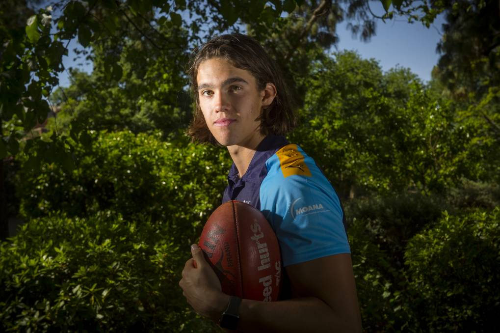 Flynn Perez before being drafted by the Roos last year. Picture: DARREN HOWE