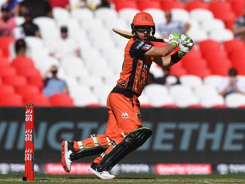 A Josh Inglis half-century helped Perth Scorchers to a 22-run win over Hobart Hurricanes.