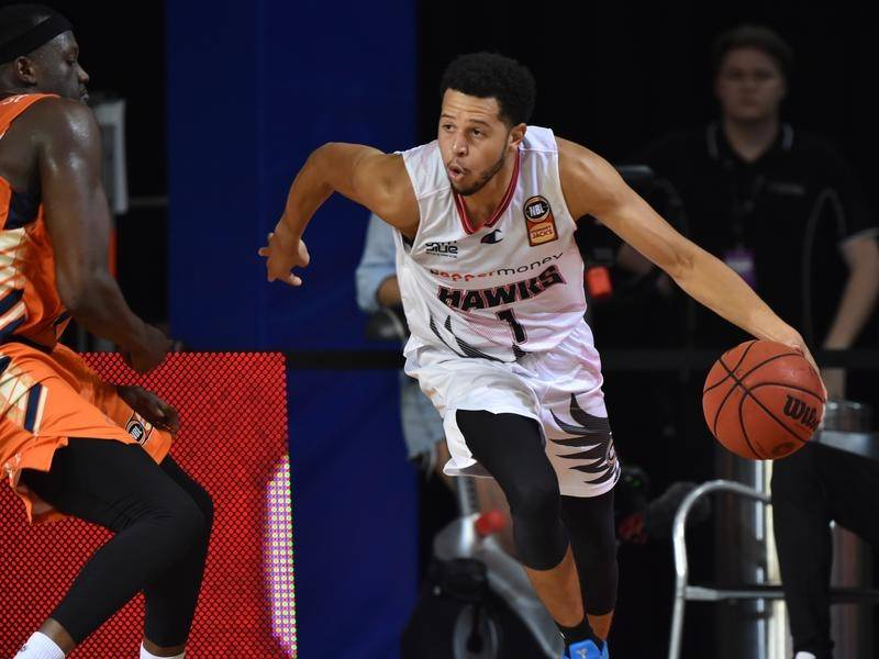 The Hawks have made all the running in their NBL clash with Cairns, upsetting the Taipans 92-76.