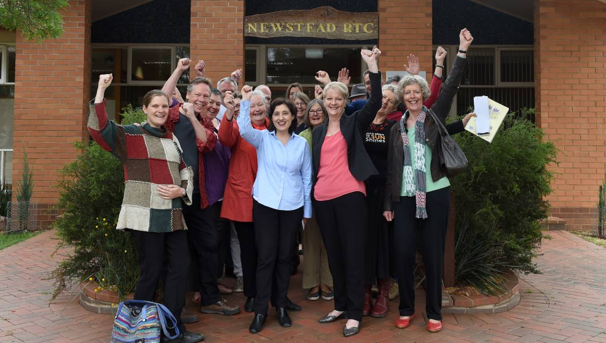 CHEER: Shadow minister Lily D'Ambrosio and Member for Bendigo West Maree Edwards announce funding for Renewable Newstead.