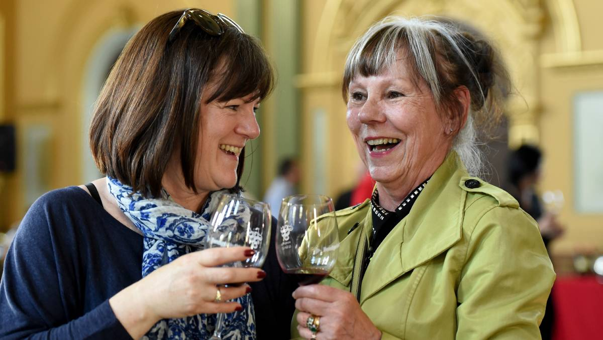 Marion Pugh and Kate Murray have travelled from Melbourne for Heritage Uncorked this year.  Picture: JODIE DONNELLAN