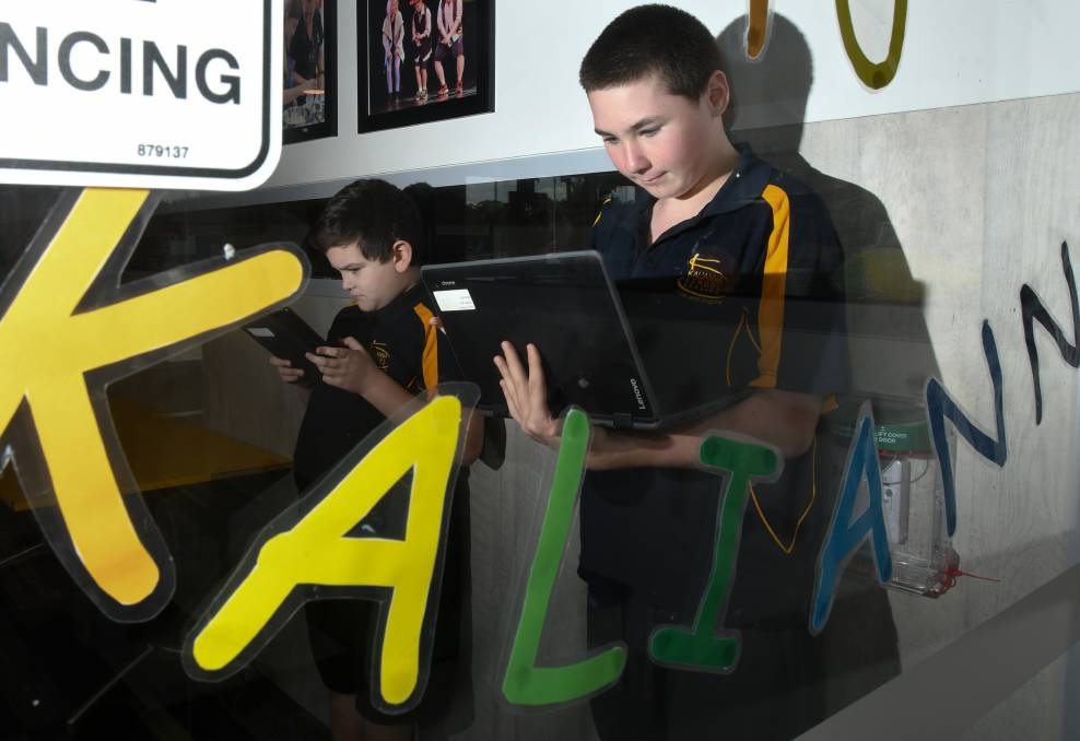 BACK: Kalianna School Bendigo students have returned to face-to-face classes after spending the past six weeks learning remotely. Picture: NONI HYETT