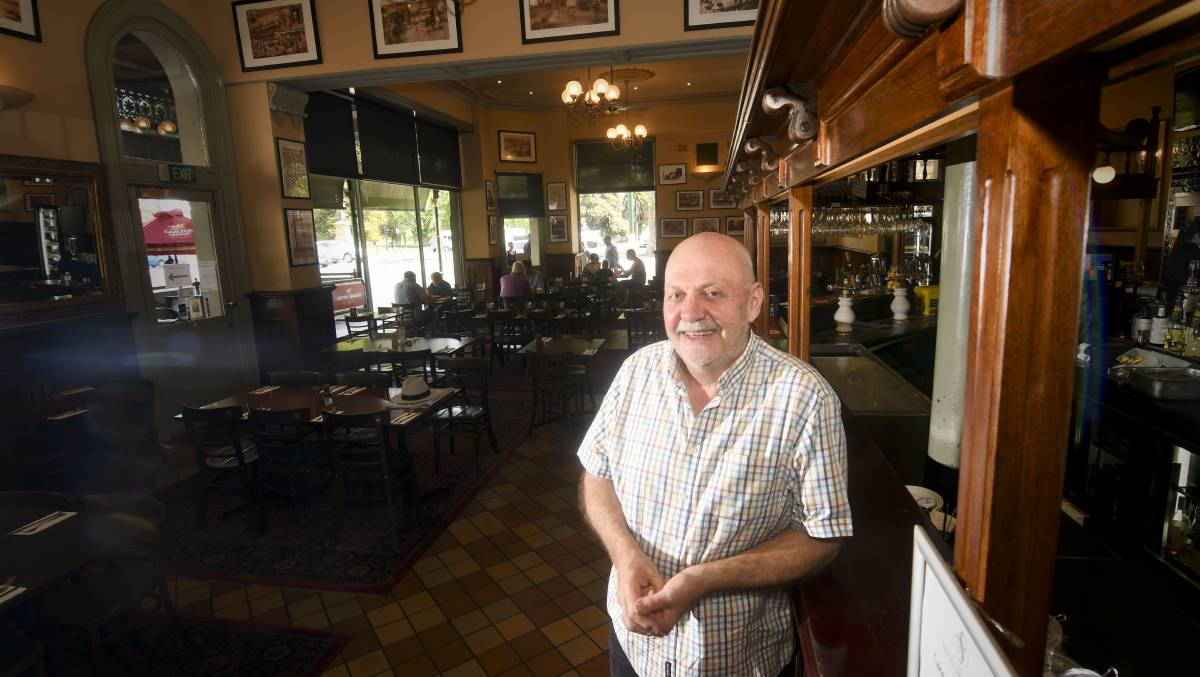 Hotel Shamrock owner Ray Sharawara. Picture: NONI HYETT