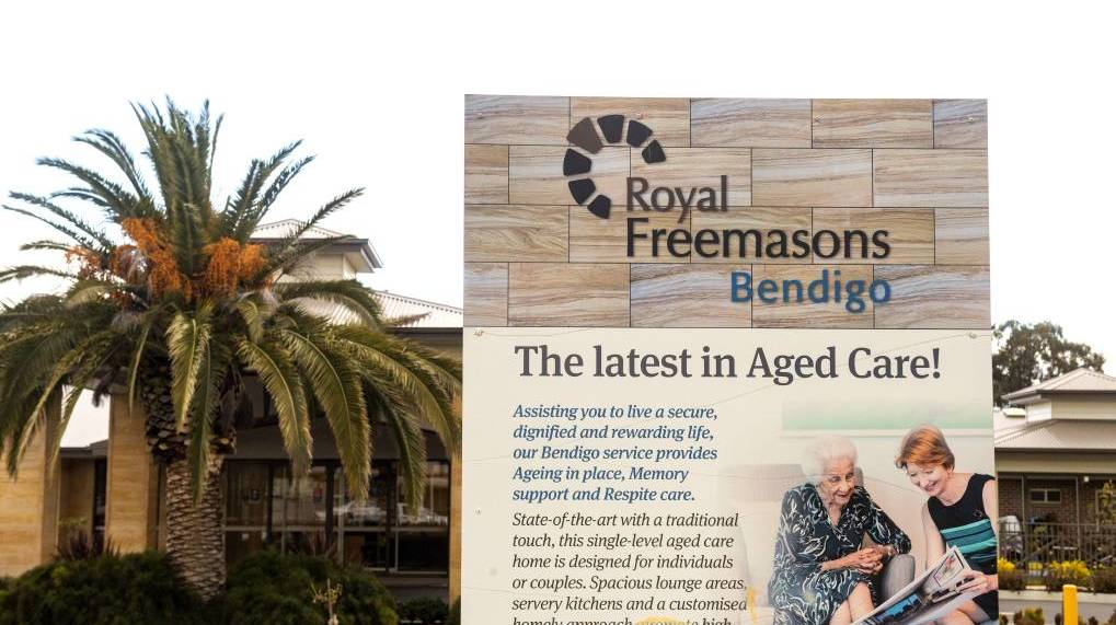 One of two Royal Freemasons aged care centres in Bendigo. Picture: DARREN HOWE